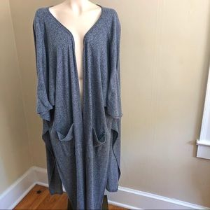 SUZANNE BETRO blue cardigan duster